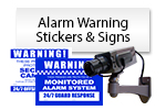 Alarm Warning Stickers & Signs