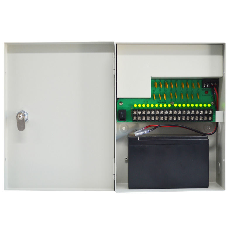 PS12VDC10A18CHB: 12VDC 10A 18CH Surveillance Power Supply