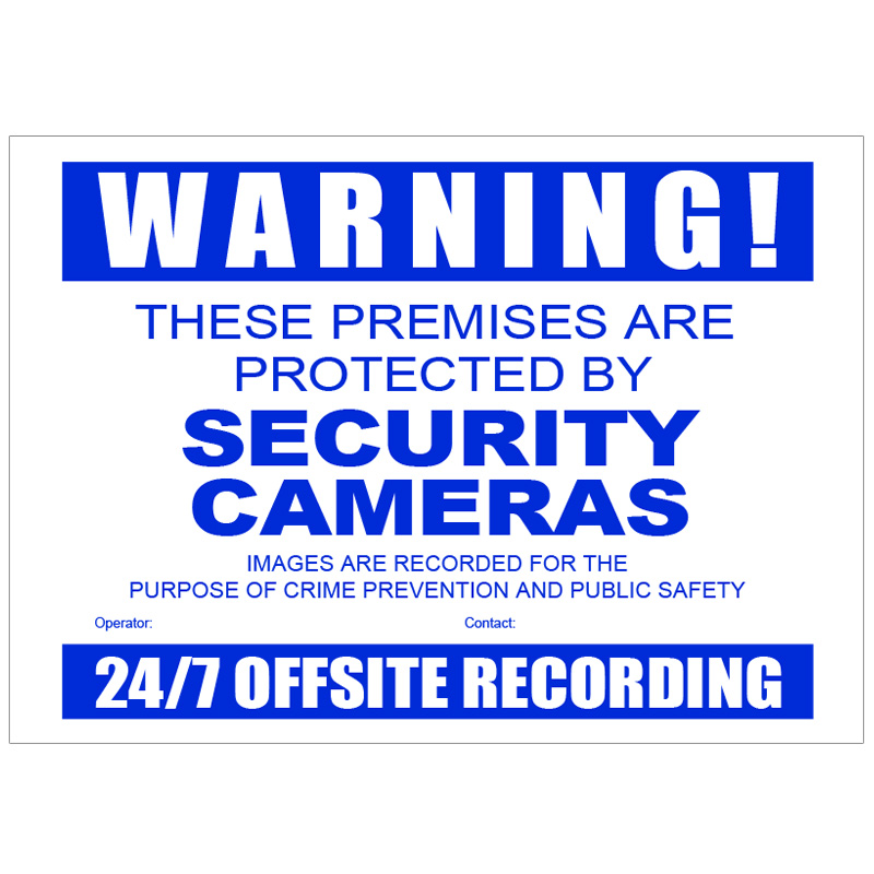 Vscdcc Cctv Warning Sign Corflute A3 Size Rhinoco